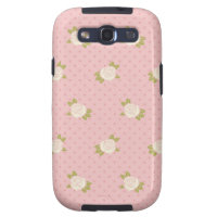 Pink Flowers (4) Galaxy SIII Cases