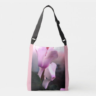Pink Flowers  All-Over-Print Cross Body Bag