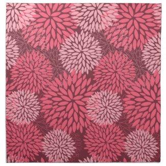 Pink Flowers American MoJo Napkin mojo_napkin