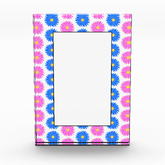Pink Flowers and Blue Flowers. Pattern. Award