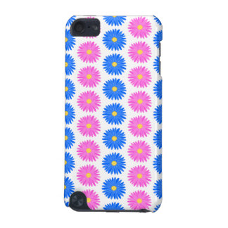 Pink Flowers and Blue Flowers Pattern iPod Touch (5th Generation) Cases