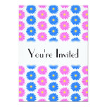 """Pink Flowers and Blue Flowers. Pattern. 5"""" X 7"""" Invitation Card"""