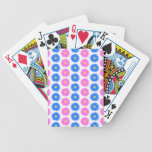 Pink Flowers and Blue Flowers. Pattern. Poker Cards