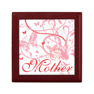 Pink Flowers and Butterflies Mother's Day Keepsake Box