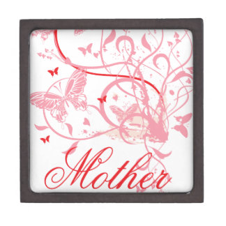 Pink Flowers and Butterflies Mother's Day Premium Gift Box