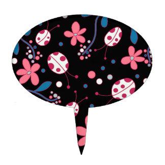 Pink Ladybug Cake Toppers | Zazzle