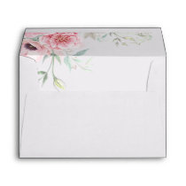 Pink Flowers and Little Horse Cute Envelope