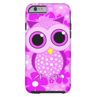 pink flowers and owl iPhone 6 case