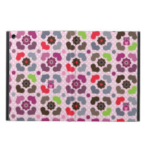 pink flowers and owls pattern iPad air cases
