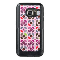 pink flowers and owls pattern OtterBox samsung galaxy s7 case