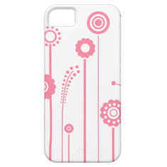Pink Flowers and Stalks iPhone 5 Case-Mate ID