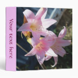 Pink Flowers Avery Binder
