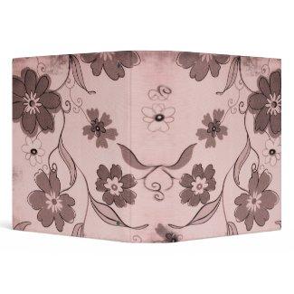 Pink Flowers Background Medium Binder binder