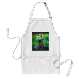 Pink Flowers & Bee Against The World Adult Apron
