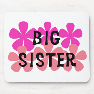 Pink Flowers Big Sister Mouse Pad