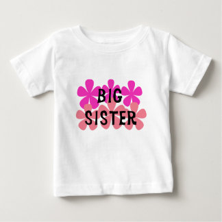 Pink Flowers Big Sister T-shirts and Gifts