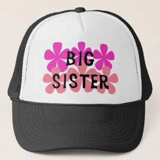Pink Flowers Big Sister Trucker Hat