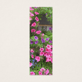 Pink Flowers Bookmarks Photo Art Mini Business Card