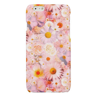 Pink Flowers Bouquet Floral Wedding Bridal Spring Glossy iPhone 6 Case