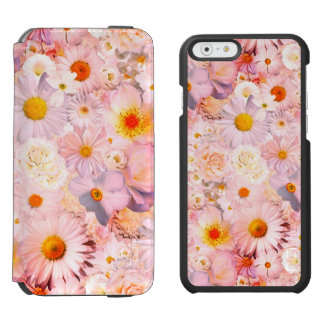 Pink Flowers Bouquet Floral Wedding Bridal Spring iPhone 6/6s Wallet Case