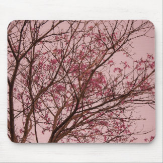 Pink Flowers Branch Mouse Pad