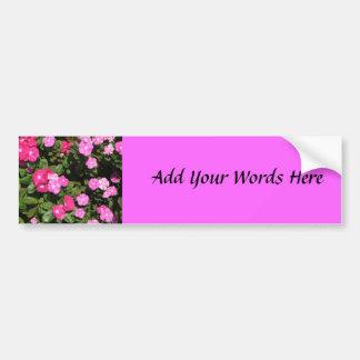 Pink flowers bumper sticker