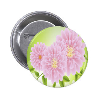 Pink Flowers Pins