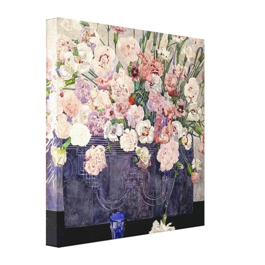 Pink Flowers by Mackintosh Canvas Print