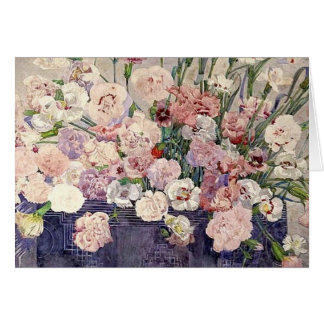 Pink Flowers by Mackintosh Card