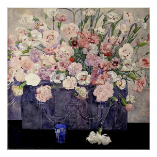 Pink Flowers by Mackintosh - Print