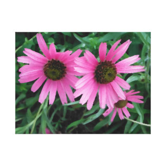 Pink Flowers Canvas Art Girly Pretty