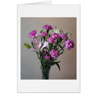 Pink Flowers Card