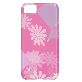 Pink Flowers Case For iPhone 5C