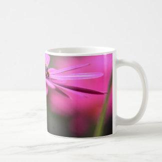 Pink flowers classic white coffee mug