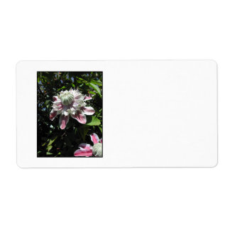 Pink flowers Clematis Stylish design Shipping Labels