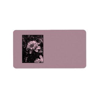 Pink flowers Clematis Stylish design Custom Address Label