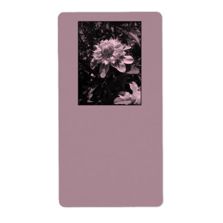 Pink flowers Clematis Stylish design Shipping Label
