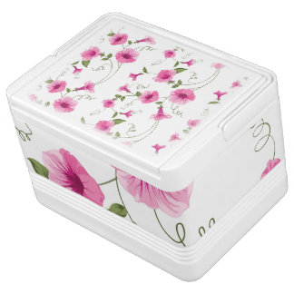 Pink Flowers Cooler