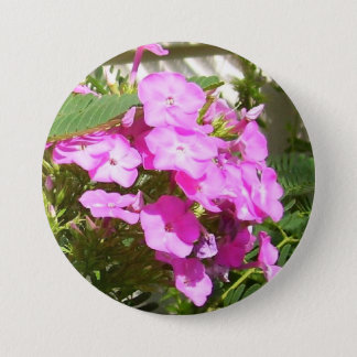Pink Flowers Corsage - Allergy-Free! Pinback Button