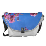 PINK FLOWERS COURIER BAGS