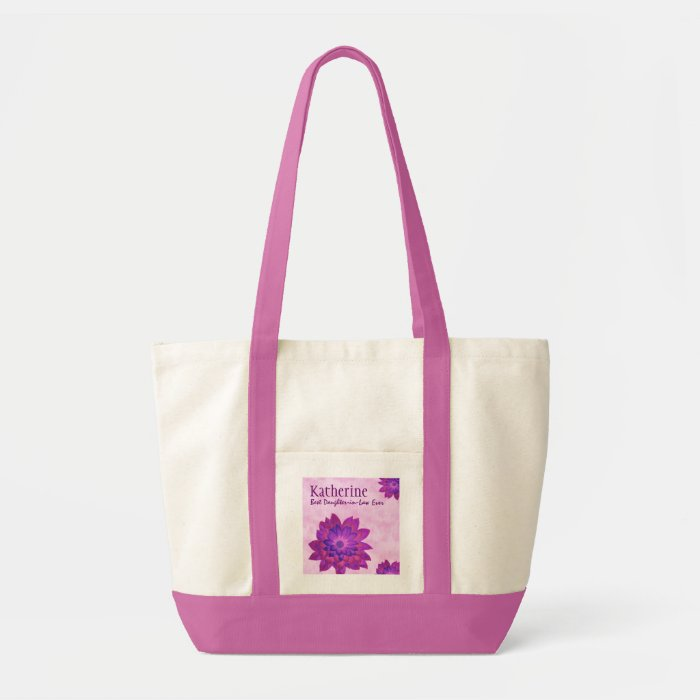 Pink Flowers Custom Best Daughter In Law Ever G356 Tote Bag