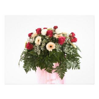 pink flowers custom flyer