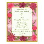 Pink Flowers Custom Rehearsal Dinner Invitation
