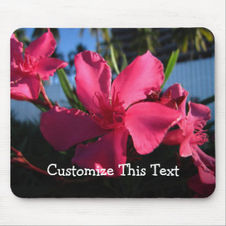 Pink Flowers; Customizable Mousepad