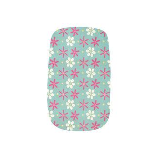 Pink Flowers & Daisies Aqua Minx ® Nail Wraps