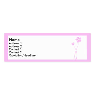 Pink flowers Double-Sided mini business cards (Pack of 20)