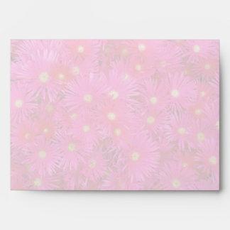 Pink flowers envelope