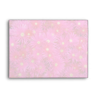 Pink flowers envelopes