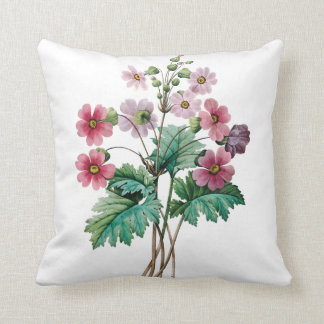 Pink flowers floral cushion