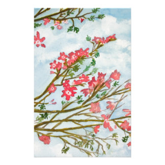 Pink flowers floral gifts stationery